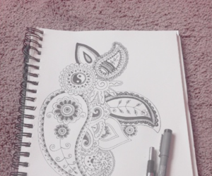 drawing, paisley, and Paper image