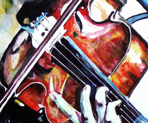 art, beautiful, and violin image