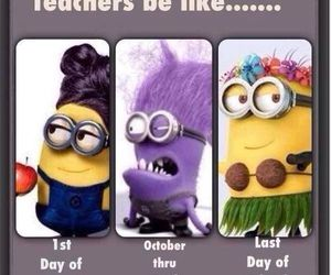 minions, teacher, and school image