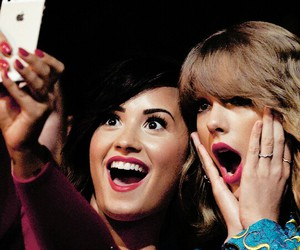 demi lovato, Taylor Swift, and selfie image