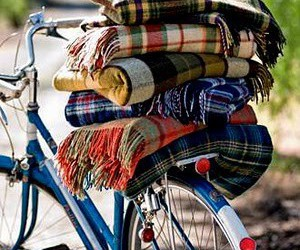bicycle, plaid, and wool image