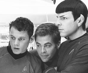 star trek, chris pine, and Chekov image