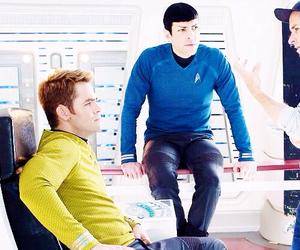 star trek, chris pine, and spock image