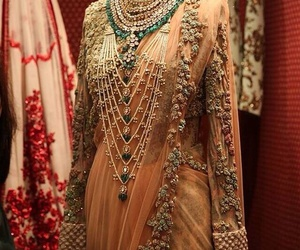 indian, wedding, and pearls image