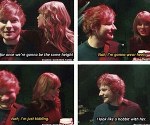 Taylor Swift, ed sheeran, and hobbit image