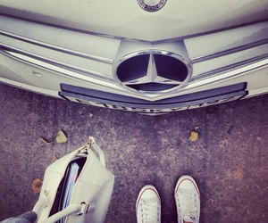 mercedes, car, and converse image
