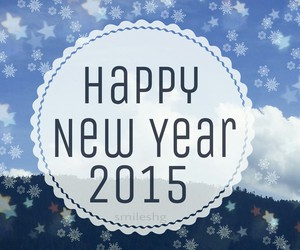 happy new year, winter, and 2015 image
