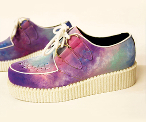 shoes, creepers, and galaxy image