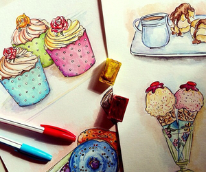 cupcakes, drawing, and doll-memories image