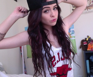 acacia brinley, pale, and tattoo image