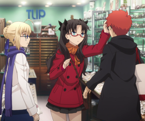 anime, saber, and fate stay night image