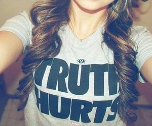 girl, hair, and truth image