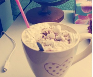 cold, hot chocolate, and comfy image