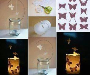 butterfly, diy, and light image