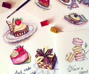 cake and drawing image