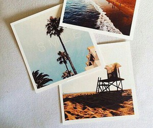 beach, sun, and california image