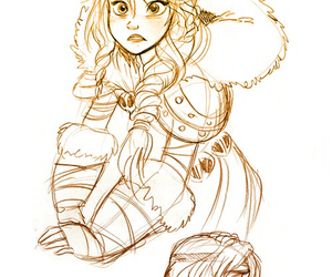 art, how to train your dragon, and astrid image