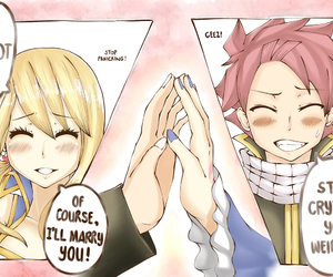 Lucy, fairy tail, and natsu image