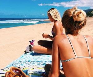 beach, pretty, and sand image
