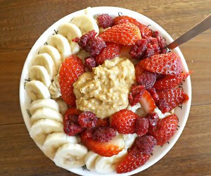 healthy, food, and strawberry image