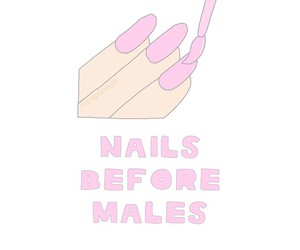 nails, overlay, and pink image