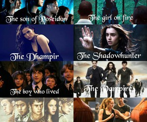harry potter, twilight, and percy jackson image