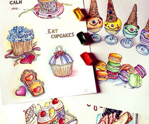 drawing, sweets, and doll-memories image