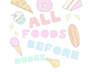 food, overlay, and dudes image
