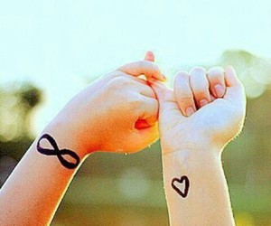 love, infinity, and heart image
