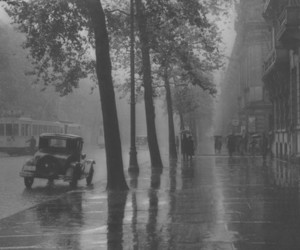 black and white, old, and rain image
