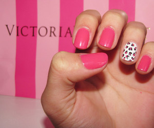 nails, pink, and Victoria's Secret image