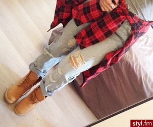 timberland, fashion, and outfit image