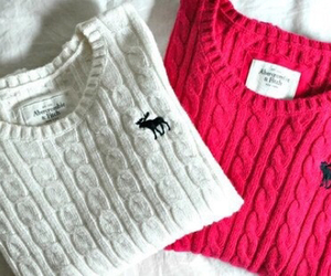 sweater, pink, and abercrombie image