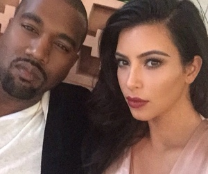 kim kardashian, kanye west, and kimye image