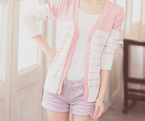 korean fashion, pink, and cute image