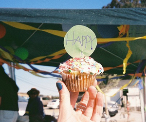 cupcake, happy, and food image