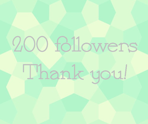 followers, thank you, and 200 image