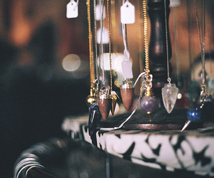 necklace, photography, and crystal image