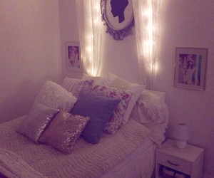 bedding, decor, and girly image