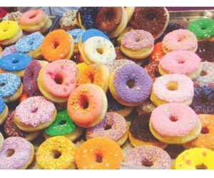 amazing, color, and donuts image