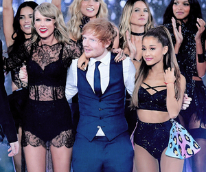 ariana grande, ed sheeran, and Taylor Swift image