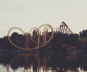 fun, Roller Coaster, and lake image