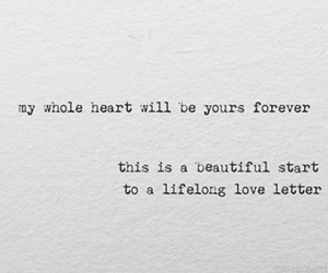 Letter, Lyrics, and quote image