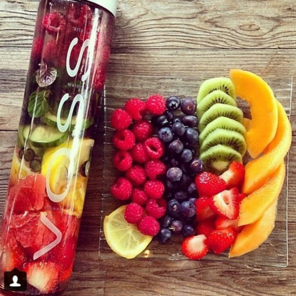 berries, fit, and water image