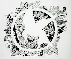drawings, hunger games, and my drawings image