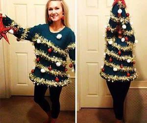 christmas, tree, and sweater image