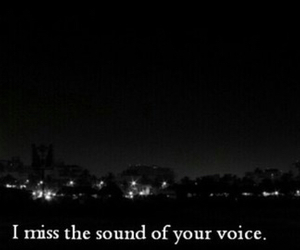 miss, voice, and sad image