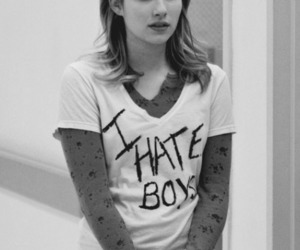 boy, hate, and emma roberts image