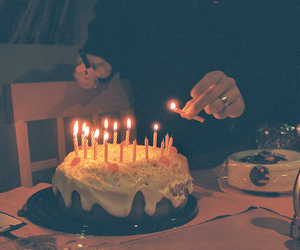 birthday, cake, and old image