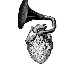 heart, music, and picture image